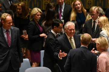 U.S. Secretary of State Rex Tillerson arrives at the Security Council meeting on the non-proliferation of weapons of mass destruction at the 72nd United Nations General Assembly at U.N. headquarters in New York