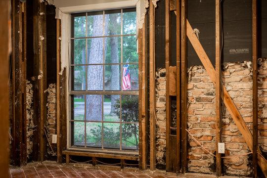 Inside a home flooded by Hurricane Harvey