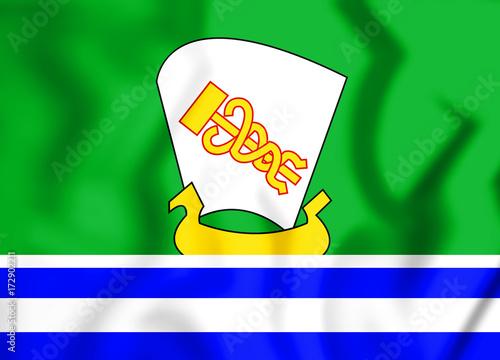 3d flag of zelenodolsk republic of tatarstan russia stock photo