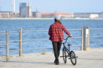 女性BMXライダー