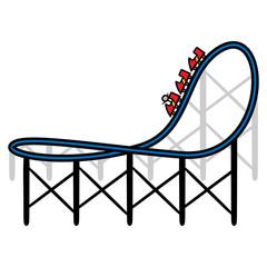 Cartoon Roller Coaster Ride