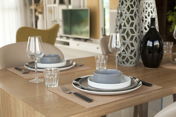 dining table set at home