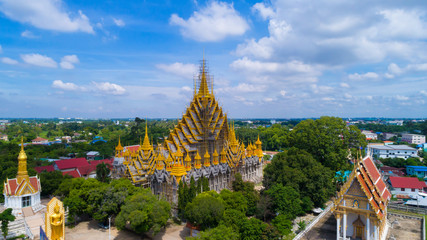 Wat Chan Tawan Tok ,beautiful in Phitsanulok Thailand.
