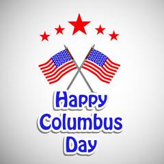 illustration of elements of Columbus Day Background