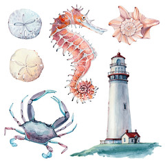 hand drawn sea clipart