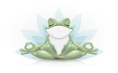 Funny frog doing yoga