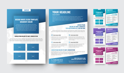 template of modern brochures with diagonal elements with a gradient