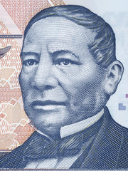 Benito Juarez portrait from Mexican money