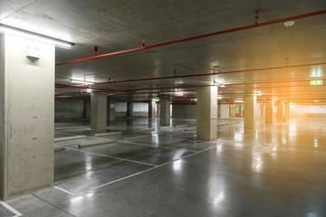 Empty underground cars parking.