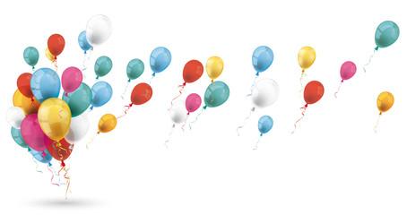 Bunte Luftballons im Wind Fotomurales