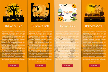Halloween Poster Banner Concept
