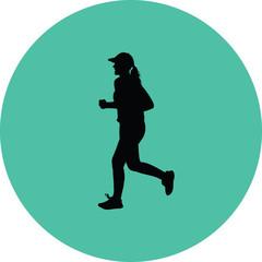 runner silhouette. jogging silhouette