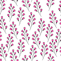 Hand drawn fancy flourish pattern. Vector background