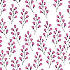 Hand drawn fancy flourish pattern. Vector background