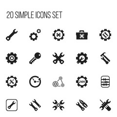 Set Of 20 Editable Service Icons. Includes Symbols Such As Access, Arithmetic, Fixing Equipment And More. Can Be Used For Web, Mobile, UI And Infographic Design.