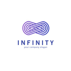 Vector logo design for business. Infinity sign