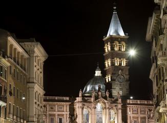 Beautiful and famous Basilica of Santa Maria Maggiore in Rome, Italy