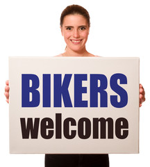 Wall Mural - Bikers  welcome