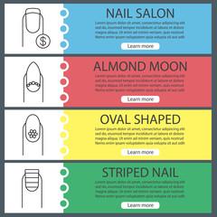 Manicure web banner templates set