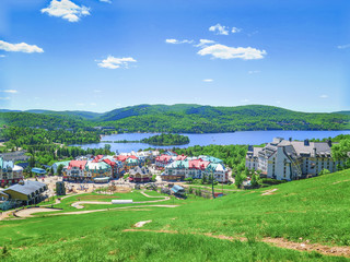 Visiting the town of Mont-Tremblant, near Montreal