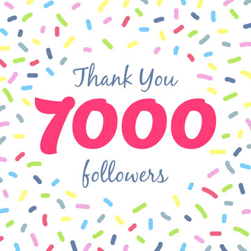 Thank you 7000 followers network post