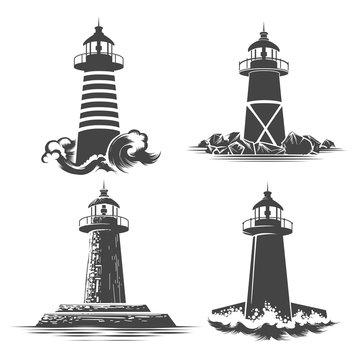 Lighthouse emblem Set