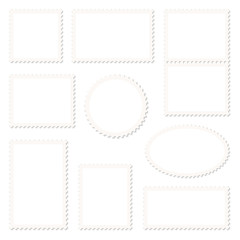 Blank White Stamps Beige Frame Set
