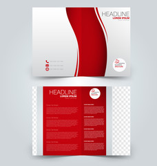 Abstract flyer design background. Brochure template. Can be used for magazine cover, business mockup, education, presentation, report. Red color.