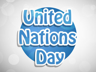illustration of elements of United Nations Day Background