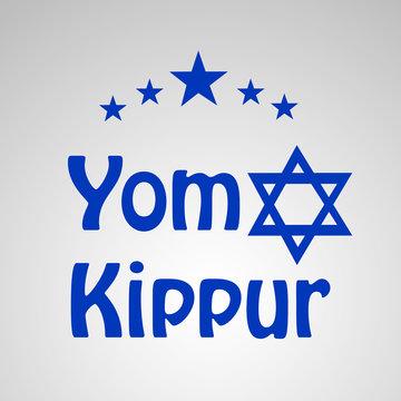 illustration of elements jewish yom kippur background
