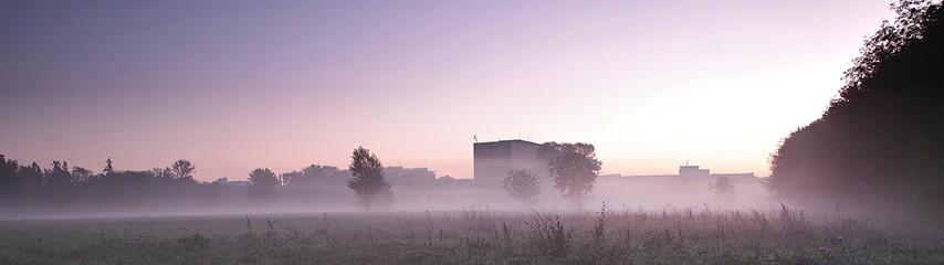 mgła w Warszawie - fototapety na wymiar