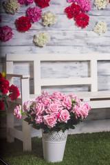flower arch, flower decoration