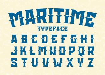 Maritime style typeface