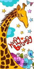 Greeting card happy birthday children's
