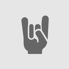 I love you sign hand gesture vector icon eps 10. ILU symbol.