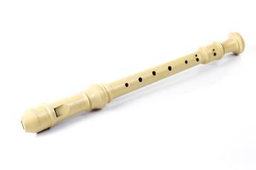plastic flute on white