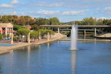 Jet d'eau du Lez, Montpellier, France