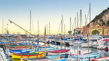 Canvas Prints Nice The Port of Nice, France at dawn