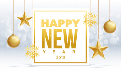 happy new year 2018 sale gold  collors place for text christmas