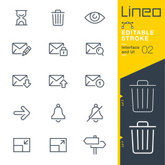 Lineo Editable Stroke - Interface and UI line icons Vector Icons - Adjust stroke weight - Expand to any size - Change to any colour