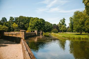Pond and garden at the Castle de Haar, Netherlands