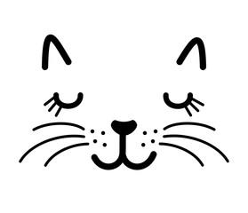 Cute cat face vector illustration