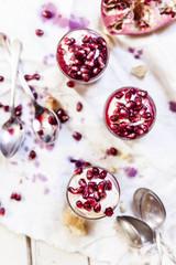 Tiramisu with Pomegranates