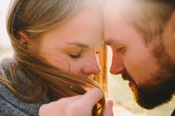 Man and woman closeup