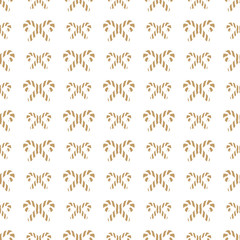 Christmas candy seamless pattern gold style. Christmas decoration element. Vector Illustration