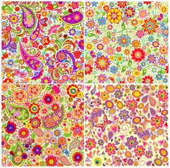 Summery floral wallpapers collection