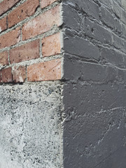 Close up of brick wall corner