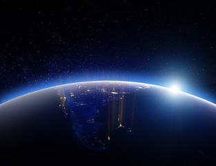 World globe planet Earth. 3d rendering