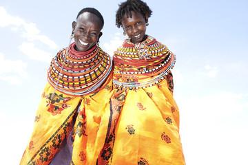 Smiling Samburu tribeswomen. Kenya.