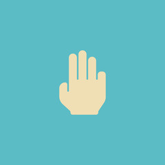 Flat Icon Three Element. Vector Illustration Of Flat Icon Finger Isolated On Clean Background. Can Be Used As Finger, Three And Gesture Symbols.